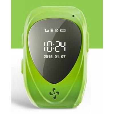 """""""Классик"""" Детские часы телефон с GPS трекером и Сим-картой ребенку для садика, зелёные"""