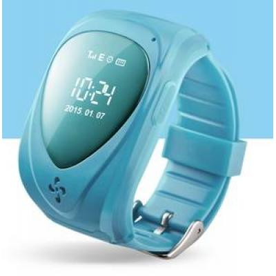 """""""Классик"""" Детские часы телефон с GPS трекером и Сим-картой  (часофон) в детский сад, голубые"""