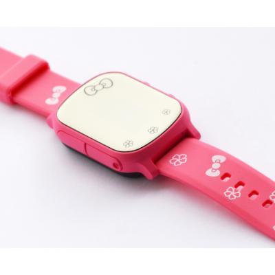 """""""Школьник"""" GPS трекер для ребёнка часы телефон для девочки цвет розовые"""