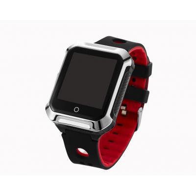 Умные смарт часы телефон трекер для подростка школьника с сенсорным дисплеем GPS трекером  Школьник-Спорт, цвет чёрный
