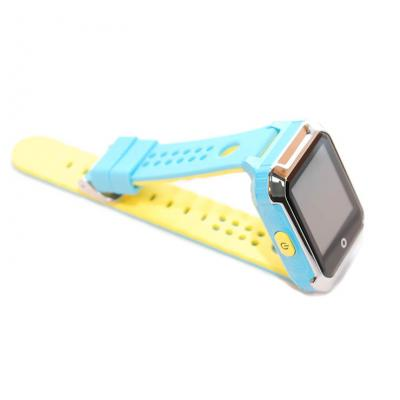 Умные часы-телефон GPS трекер для подростков и школьников с сенсорным дисплеем GPS трекером Школьник-Спорт, цвет голубой