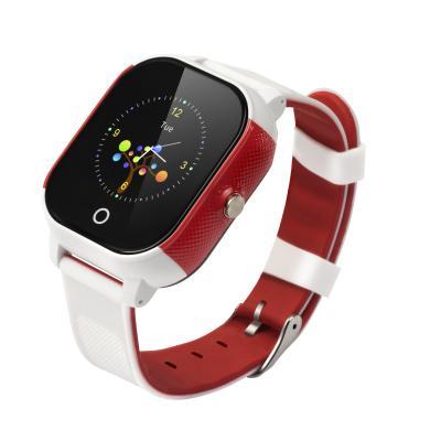 Детские часы с GPS трекером и телефоном с сим картой с сенсорным экраном Школьник-Тач, цвет белый+красный