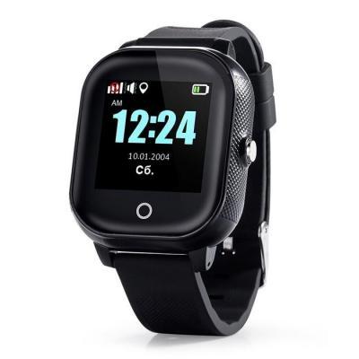 Детские часы-телефон с GPS функцией слежения для ребенка подростка Школьник-Тач, цвет чёрный
