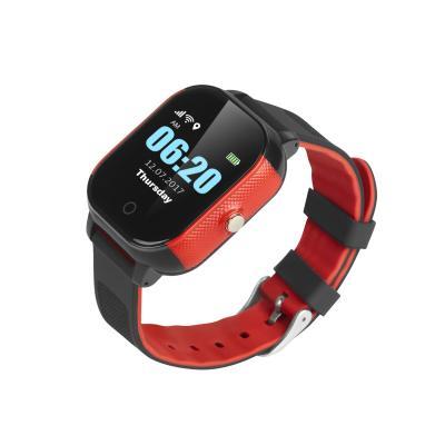 Часы для ребенка с функцией слежения и телефоном для подростка школьника с сенсорным дисплеем GPS трекером  Школьник-Тач, цвет чёрный+красный