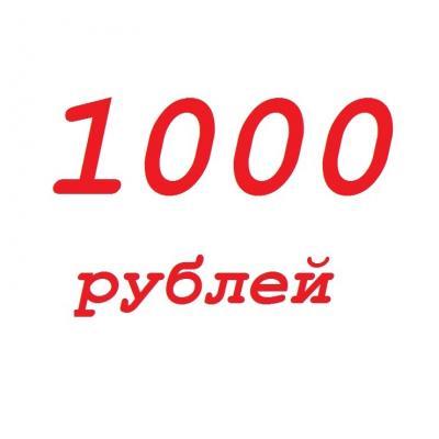 Оплата 1000 руб
