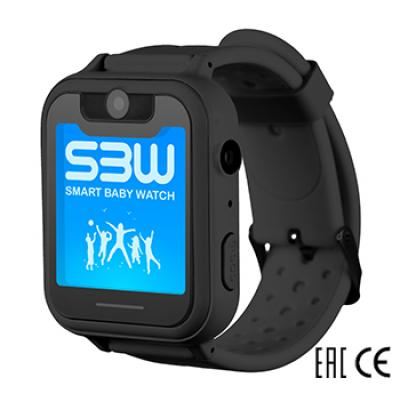 Smart Baby Watch SBW X детские часы с GPS с камерой и фонариком. Цвет черный