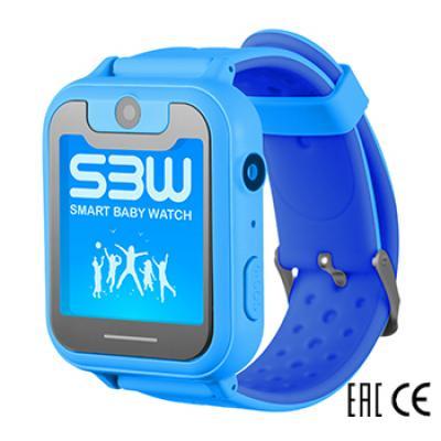 Smart Baby Watch SBW X детские часы с GPS с камерой и фонариком. Цвет синий