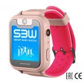Smart Baby Watch SBW X детские часы с GPS розовые