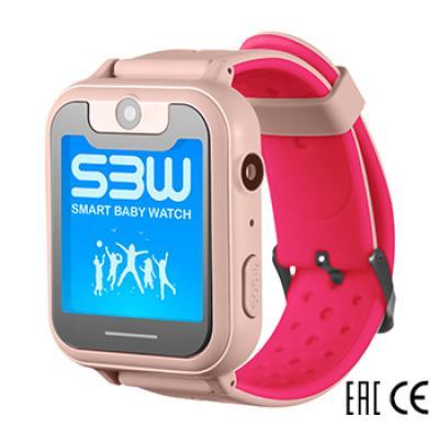 Smart Baby Watch SBW X детские часы с GPS с камерой и фонариком. Цвет розовый
